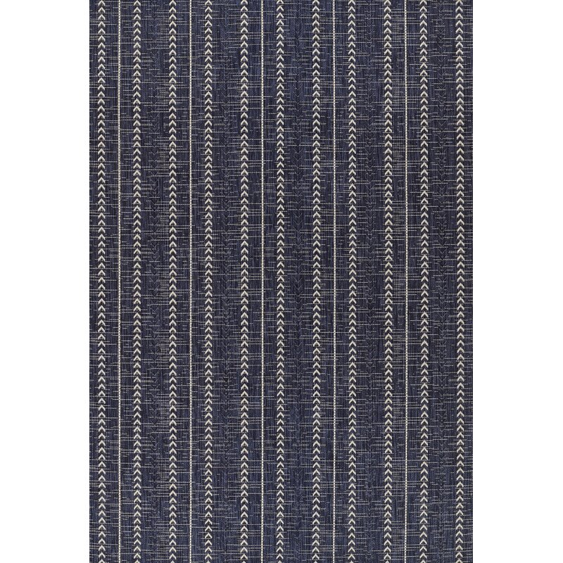 affordable striped navy outdoor rug