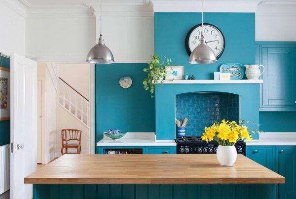 turquoise kitchen decor