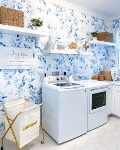 floral laundry room