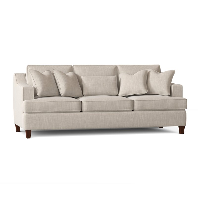 recessed armed sofa