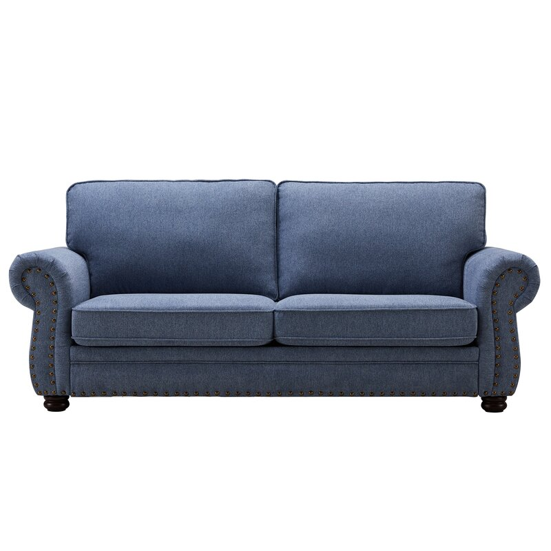affordable blue sofa