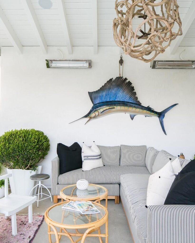 marlin fish in living room