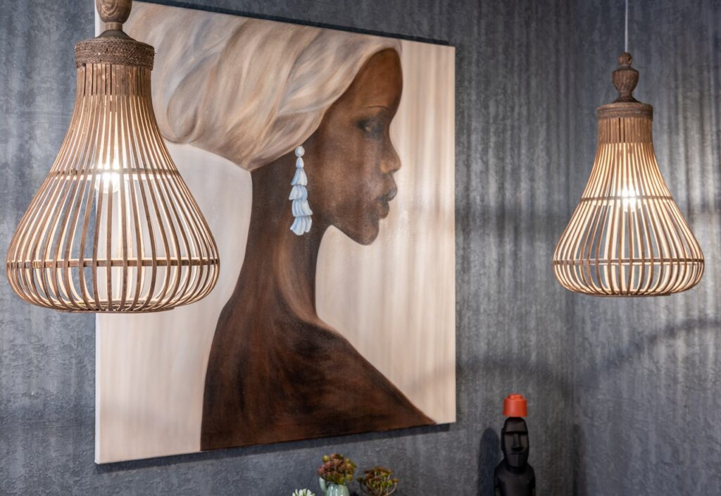 hanging pendant lights in living room