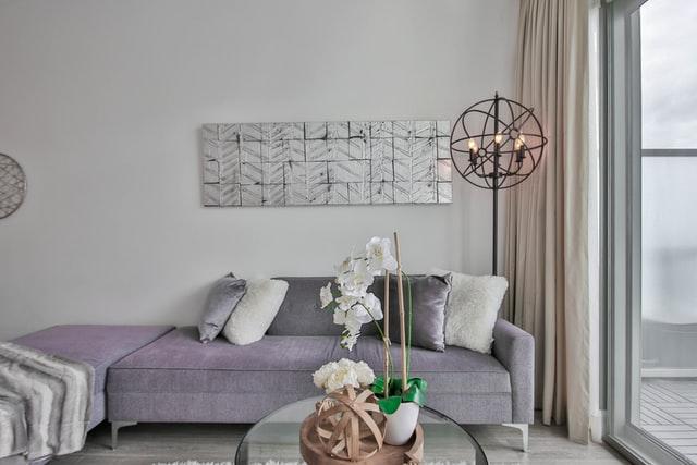floor lamp in living room